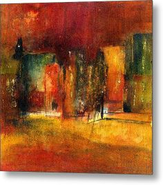 Red Town Metal Print By Agnes Trachet