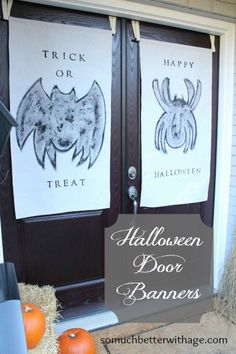 Halloween Door Banners - So Much Better With Age