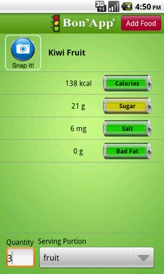 Bon'App is Voice-Powered so it can Food Journal faster than any other app and beyond Calorie Count, it tells you how much Sugar, Salt and Bad Fat (Saturated and Trans Fat) there is in every food item.