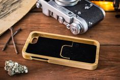 iPhone 5S case  / 5 / 5C / SE Real wood case / bamboo by aszodiba