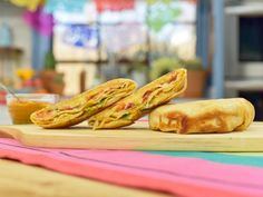 """Crunchy Taco Wrap (Fiesta in a Flash) - Jordan Andino, Chef and Owner of City NYC"""", Guest on """"The Kitchen"""" on the Food Network. Enchiladas, Mexican Dishes, Mexican Food Recipes, Food Network Recipes, Food Processor Recipes, Kitchen Recipes, Cooking Recipes, Beef Recipes, Taco Wraps"""