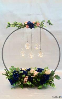 $1 Hula Hoop Wedding Hack: How to Make a Chandelier Wedding Centerpiece Wedding Decorations On A Budget, Wedding Themes, Wedding Tips, Wedding Table, Diy Wedding, Wedding Flowers, Wedding Planning, Wedding Ceremony, Trendy Wedding