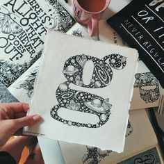 "Hand Lettering Alphabet ""G"" by Stephanie Baxter Hand Lettering Alphabet, Do You Know Me, I Shop, Letters, Words, Instagram, Art, Drawings, Art Background"