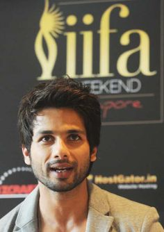 Bollywood actor Shahid Kapoor speaks during a news conference to promote his new film 'Teri Meri Kahani' during the International Indian Film Academy (IIFA) awards event in Singapore on June 9, 2012.