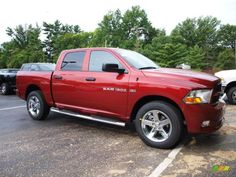 Red Dodge Ram Trucks various years & models