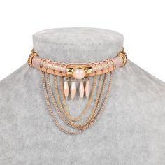e0eec1fd007 Boho jewelry style hippie chic fashion choker necklace Leather Choker  Necklace