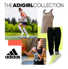 """adiGIRL"" by adidas ❤ liked on Polyvore featuring adidas"