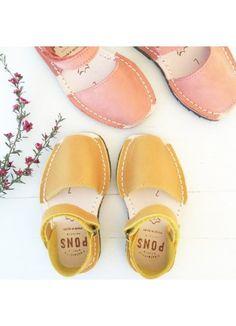 Pons Kids Frailera / Saffron - Avarcas - Designers : Fawn Shoppe - Global Boutique For Unique Children's Designs