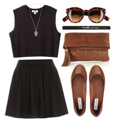 """""""Black & Brown"""" by fashxo ❤ liked on Polyvore featuring Oasis, Dorothy Perkins, Steve Madden, Nomia, H&M, Maybelline and country"""