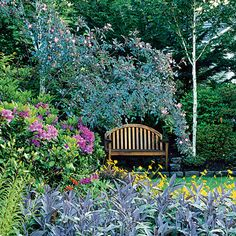 While English-style gardens draw heavily on hardy perennials, you can accomplish the same look of artful chaos with any plants appropriate to your climate. (See the Sunset Plant Finder.)