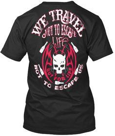 Travel Clothes । Black Hoodie Tee Shirt  Black T-Shirt Back