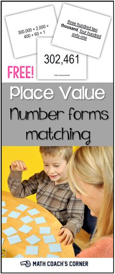 Students need plenty of practice with multiple representations of numbers to develop place value understandings. Grab this matching freebie! 6-, 9-, and 12-digit versions.