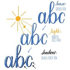 Lettering with light and shadow Hand Lettering Tutorial, Hand Lettering Alphabet, Hand Lettering Quotes, Doodle Lettering, Creative Lettering, Lettering Styles, Shadowing Letters, Drawing Letters, Word Drawings