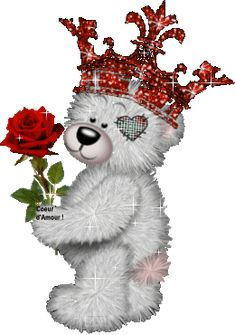 ❤️Creddy Teddy ~ King for a Day🎈❣🎈❤️ Teddy Images, Teddy Bear Pictures, Cute Images, Mickey Mouse Cartoon, Disney Mickey, Teddy Beer, Bear Gif, Bear Graphic, Blue Nose Friends
