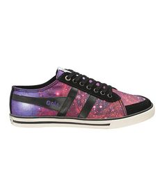 Look at this #zulilyfind! Black & Purple Comet Galaxy Sneaker - Women #zulilyfinds