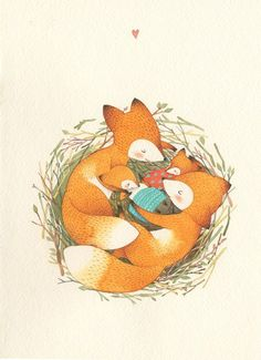 How to Start a Drawing: 5 Methods for Rookies Here is the hardest part var You have a very bright idea in your mind and you know what to do, … Fuchs Illustration, Family Illustration, Cute Illustration, Fuchs Baby, Fox Art, Cute Fox, Illustrations, Woodland Animals, Cute Drawings