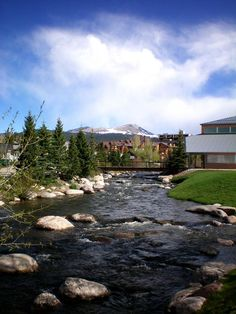 Downtown Breckenridge, Colorado. Been here! The water (despite it's being summer) was frigid!