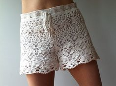 Cynthia - floral lace shorts by Vicky Chan