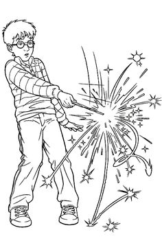 find this pin and more on colorir harry potter harry using magic wand coloring pages - Coloring Ws Coloring Pages
