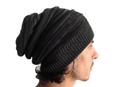 #Grey and #Black #Beanie - #Bindidesigns