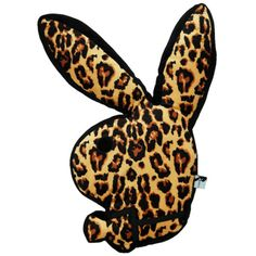 Playboy Bunny Head Pillow In Leopard - Beyond the Rack ❤ liked on Polyvore