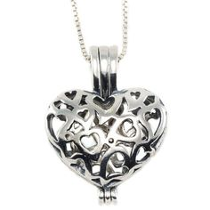 Sterling Silver Heart Shaped Vervain Vampire Pendant Necklace, 18 inches Runs with Vampires. $61.00. Sterling Silver. Heart Hinges Open. Italian Sterling Silver Box Chain with Spring Ring Clasp Included