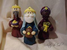 Melchor, Gaspar y Baltazar, los Reyes de Oriente.