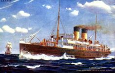 Ireland Ferry SS Scotia 1902 Print. by BloominLuvly on Etsy