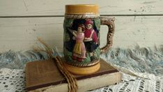 Check out this item in my Etsy shop https://www.etsy.com/listing/454990622/vintage-wiesbaden-germany-beer-stein-by