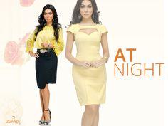 Que tal essa saia preta ou o vestido amarelo pra você sair a noite! Um luxo, não é mesmo?