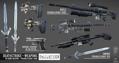 Deathstroke gear | When playing with Deathstroke these props get quite a bit of screen ... Deathstroke Cosplay, Dc Deathstroke, Deathstroke The Terminator, Space Pirate, Apocalypse Survival, Concept Weapons, Red Hood, Marvel Vs, Teen Titans
