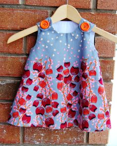 In The Clearing Winter Baby Toddler Girl Dress by KK children designs on Etsy.