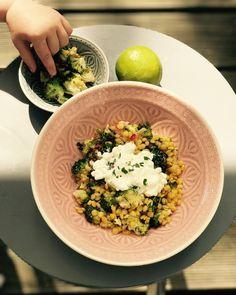 Brokkoli Linsen Salat!  Genau das richtige für den Spätsommer.