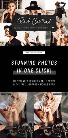 Rich Contrast Lightroom Presets for Desktop & Mobile by Wilde Presets - Tap into your inner rebel ⚡Create rich, high contrast photo edits with The Rich Contrast Preset C - Photography Editing, Photography Business, Creative Photography, Portrait Photography, Photo Editing, Instagram Look, Instagram Feed, Bracelete Tattoo, High Contrast Photos
