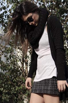 vblack white tweed look do dia lele gianetti 21