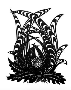 Katerina Lanfranco's Black Botanical #56 - reminds me a little of agave plants. Would be fun to do an agave in a similar style.