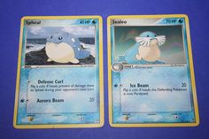 2 Pokemon Cards - Spheal and Sealeo by LiveLoveCraftDesignz on Etsy Pokemon Cards, Mint, Etsy, Peppermint, Pokemon Trading Card