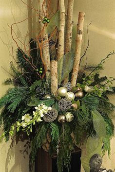 Best Christmas urns ideas on Outdoor Christmas Planters, Christmas Urns, Christmas Flowers, Outdoor Christmas Decorations, Christmas Centerpieces, Rustic Christmas, Winter Christmas, Christmas Wreaths, Christmas Crafts