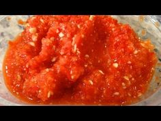 Homemade Chili Garlic Sauce / World of Flavor - YouTube