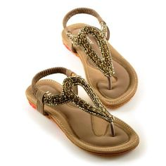 $20.71 Rome Women's Sandals With Rhinestones and Beadings Design