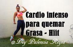 Cardio intenso para quemar Grasa - Hiit ( Rutina 295 ) - Baja de peso - ... Hiit, Cardio At Home, Workout, Burns, Youtube, Dan, Healthy, Physical Activities, Get Skinny