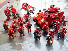Space Marines - made from Lego by Jerac, via Flickr