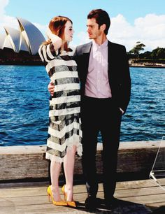 TASM 2 Photocall in Sydney Andrew Garfield and Emma Stone