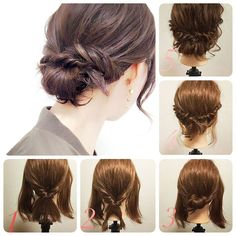 pretty hairstyles videos For Sports Hairdos For Curly Hair, Up Hairdos, Short Hair Bun, Short Hair Styles Easy, Bun Hairstyles, Pretty Hairstyles, Hairstyles Videos, Beauty Tips For Hair, Hair Beauty