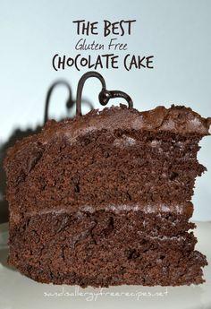 Chocolate Cake (Gluten Free/ Dairy Free/ Vegan Option/ Refined Sugar Free The Best Chocolate Cake – Chocolate Cake (Gluten Free/ Dairy Free/ Refined Sugar Free) Gluten Free Treats, Gluten Free Cakes, Gluten Free Baking, Gluten Free Vegan Cake, Gluten Free Sugar Free Cake Recipe, Allergy Free Recipes, Sugar Free Recipes, Paleo Cake Recipes, Gf Cake Recipe