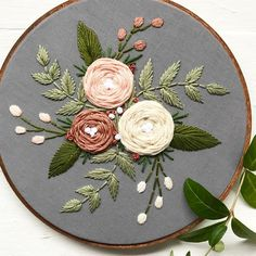 Etsy Embroidery, Floral Embroidery Patterns, Embroidery Stitches Tutorial, Embroidery Flowers Pattern, Simple Embroidery, Learn Embroidery, Embroidery Hoop Art, Hand Embroidery Designs, Embroidery Techniques