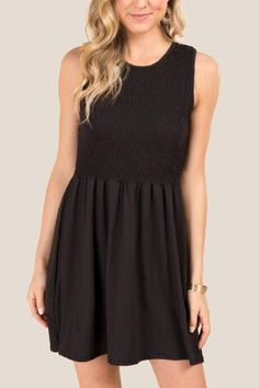 Alexi Sleeveless Babydoll Knit Dress