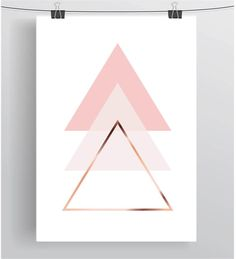 Triangle Art Blush Printable Pink Wall Decor Copper par PrintAvenue