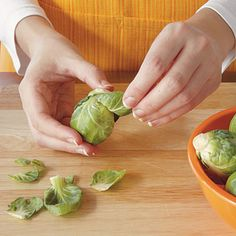 How To Prepare Brussel Sprouts | Three easy steps to perfectly prepared brussels sprouts. | SouthernLiving.com