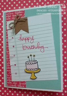 Crafting On Hat: Endless Birthday Wishes, Writing Notes, Inspire, Create, Share 2015 Swap, Stampin' Up!